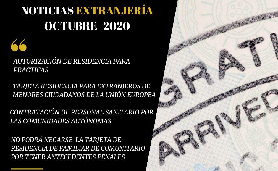 RESUMEN DE NOTICIAS EXTRANJERÍA / OCT. 2020